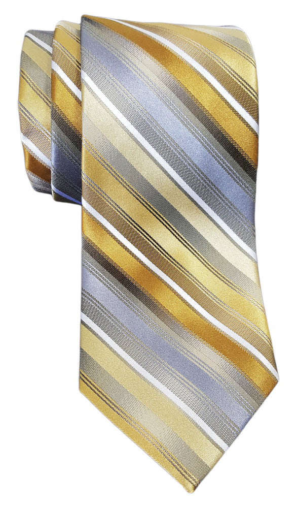 Van Heusen Mission Stripe Silk Tie Yellow