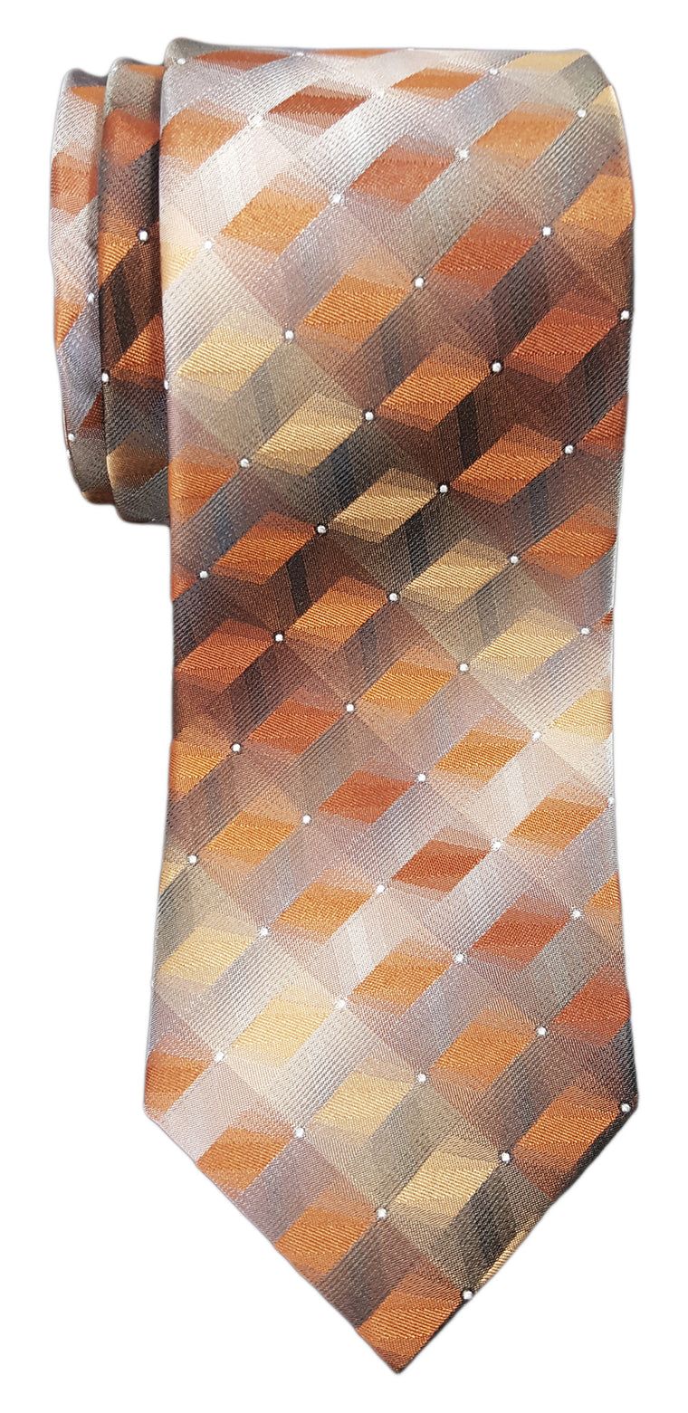 Van Heusen 3D Geo Tie Orange