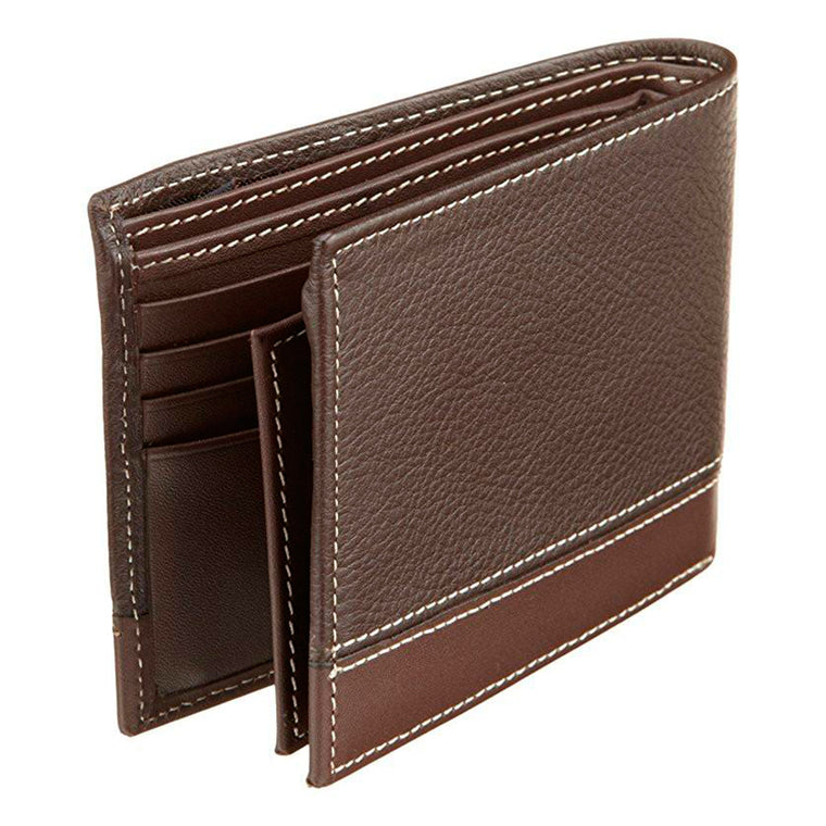 Perry Ellis Men's Premium Leather Sheridan Bifold Wallet