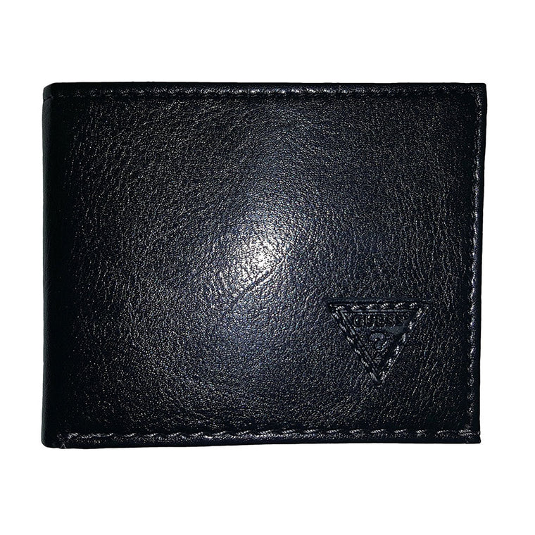 Guess Mens Bifold Leather Wallet Black