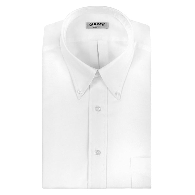ARROW Regular Fit Oxford Solid Dress Shirt