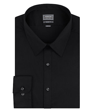 ARROW Slim Fit Wrinkle Free Stretch Solid Dress Shirt