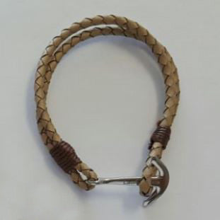 Koa Shine Bracelets Brown Leather