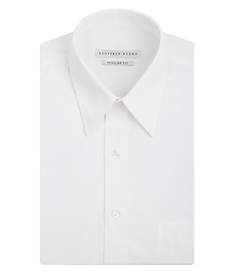 Geoffrey Beene Regular Fit Broadcloth Solid Dress Shirt