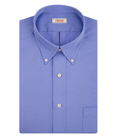 IZOD Big Fit Quick Dry Twill Solid Dress Shirt - Cornflower Blue