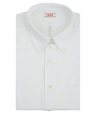 IZOD Big Fit Quick Dry Twill Solid Dress Shirt - White