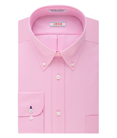 IZOD Regular Fit Quick Dry Twill Solid Dress Shirt - 650