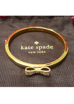 Kate Spade Pave Bow Bangle Gold