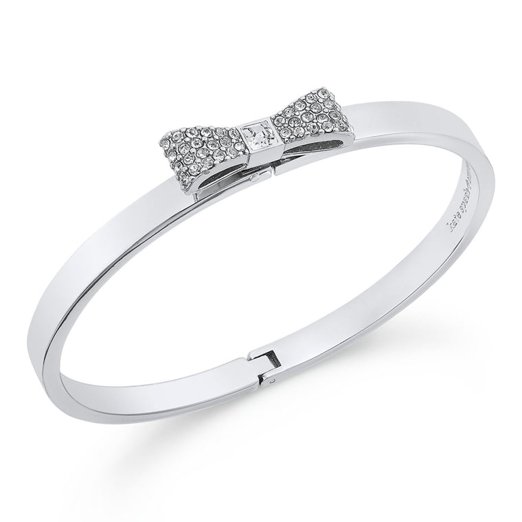 Kate Spade Pave Bow Bangle Silver
