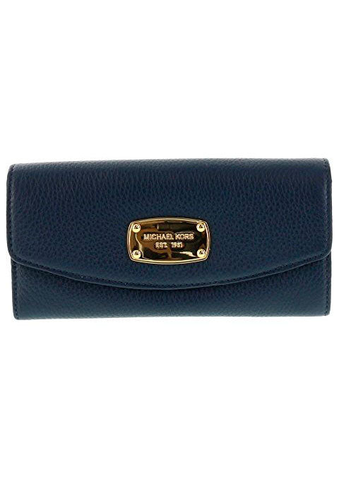 Michael Kors Jet Set Item Slim Flap Wallet in Navy