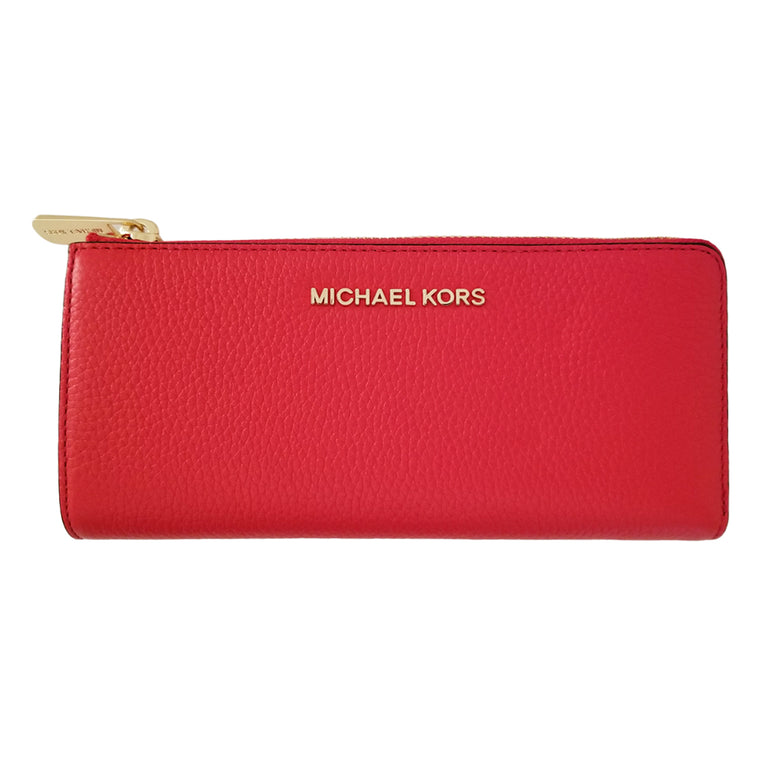 Michael Kors Bedford Large Three Quarter Wallet Dk Sangria