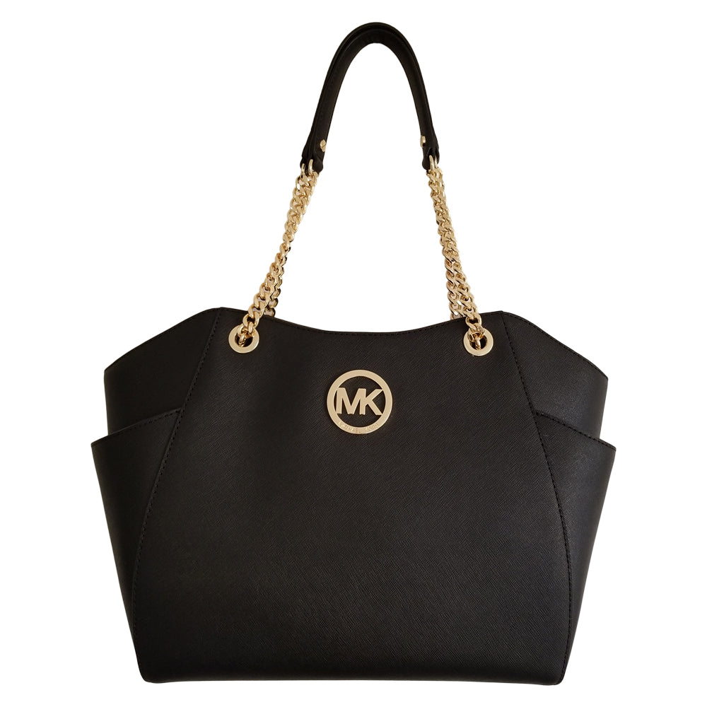 58c099cf48e8 Michael Kors Jet Set Travel Large Chain Shoulder Tote Black – Zion Clothing  & Accessories