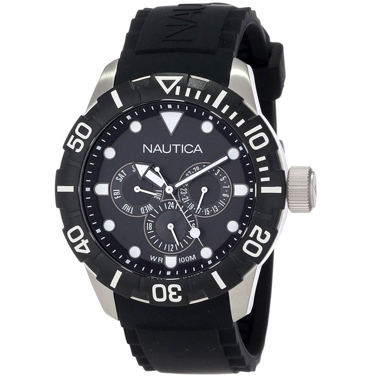 Nautica N13643G Unisex Classic Analog with Enamel Bezel Watch
