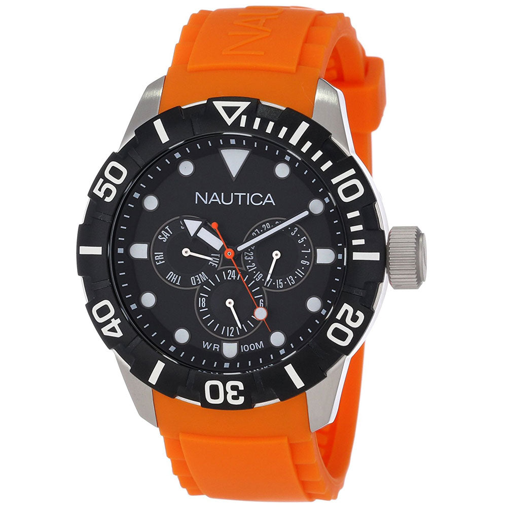 Nautica N13646G Unisex Classic Analog Orange Watch