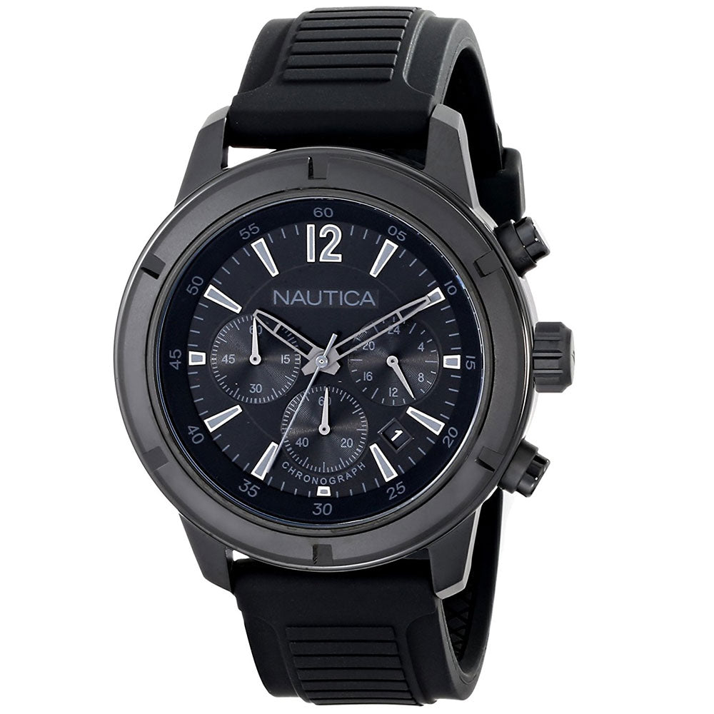 Nautica Men's N18709G Analog Display Quartz Black Watch