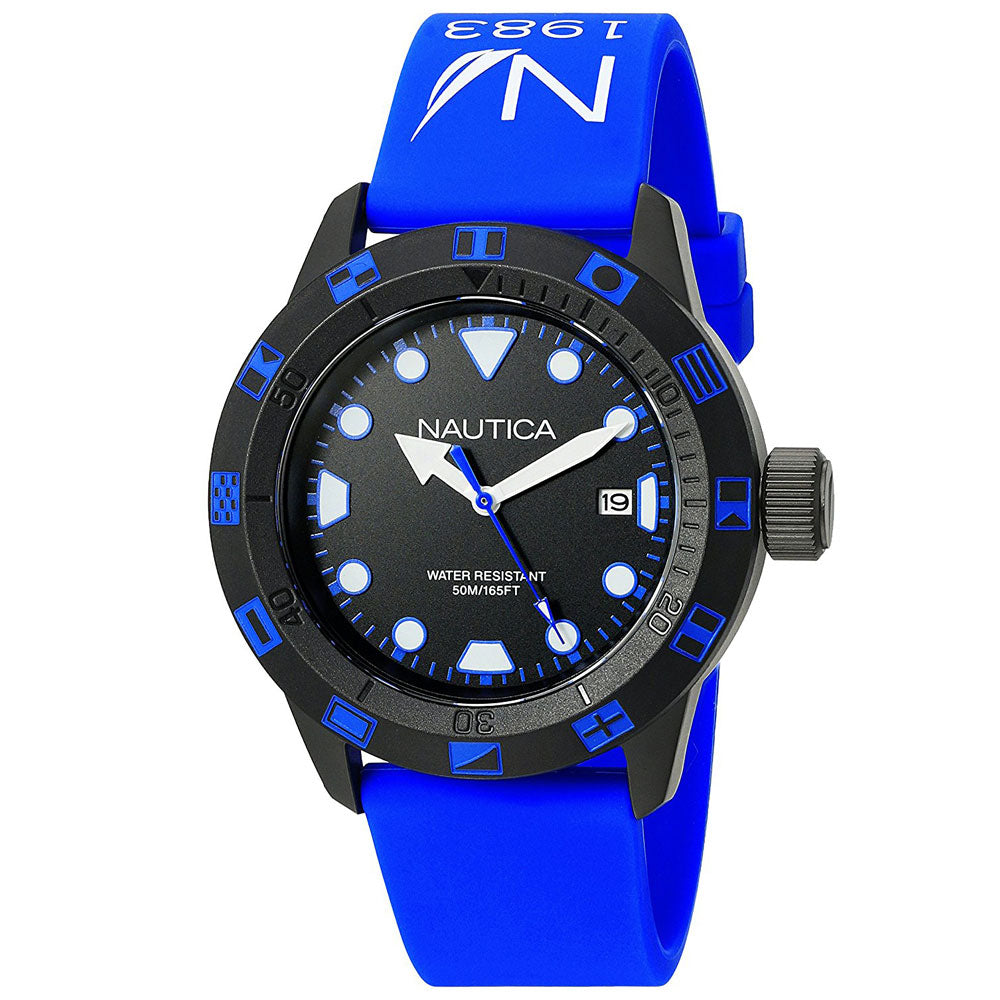 Nautica Unisex NAD10080G Flag Blue Silicone Watch