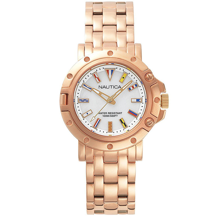 Nautica Women NAPPRH006 Rose Gold Watch Box Set