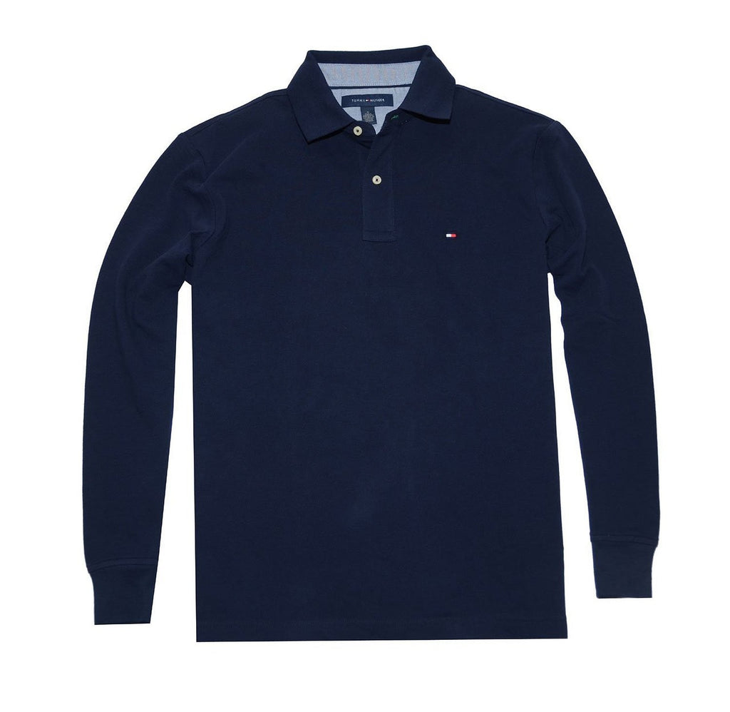 1f1f763c5a6a12 Tommy Hilfiger Men Classic Long Sleeve Logo Polo T-shirt – Zion Clothing    Accessories