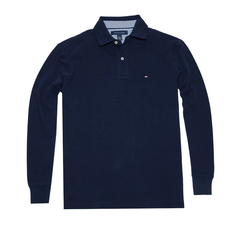 Tommy Hilfiger Men Classic Long Sleeve Logo Polo T-shirt