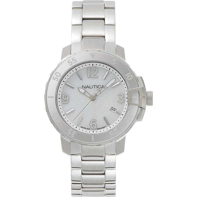 Nautica Womens NAPCHG005 Chicago Stainless Steel Watch
