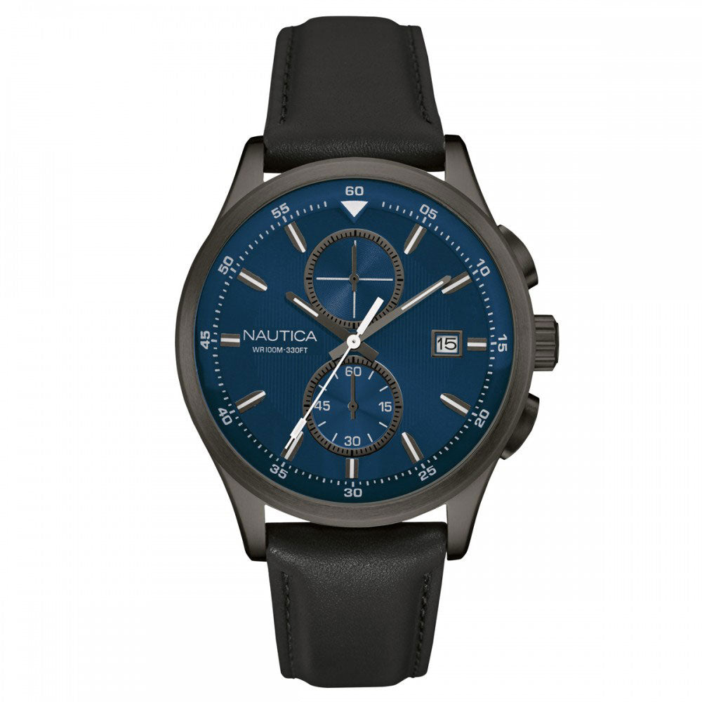 Nautica NAD15523G Men's Leather Casual Watch
