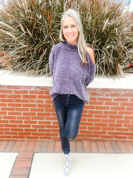Charcoal Chenille Sweater