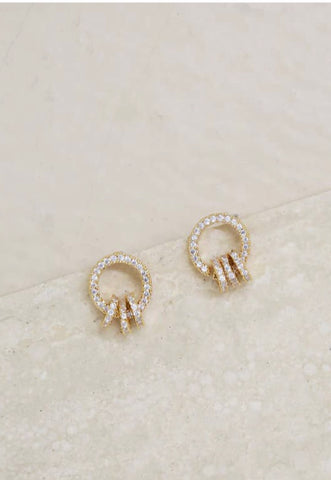 Class Act Crystal Mini Loop Earrings
