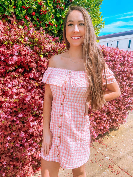 Pink Checkered Dress