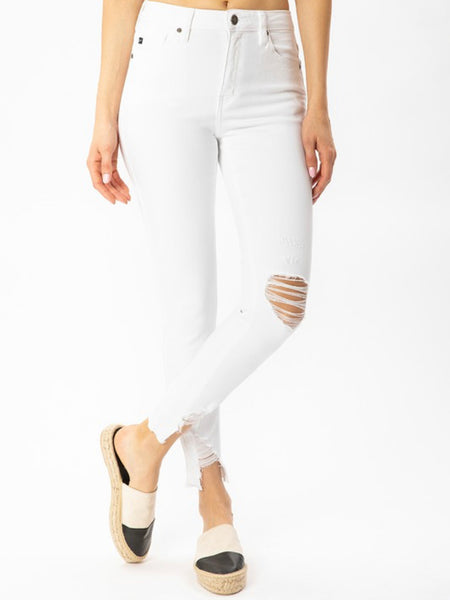 White Distressed Skinnies