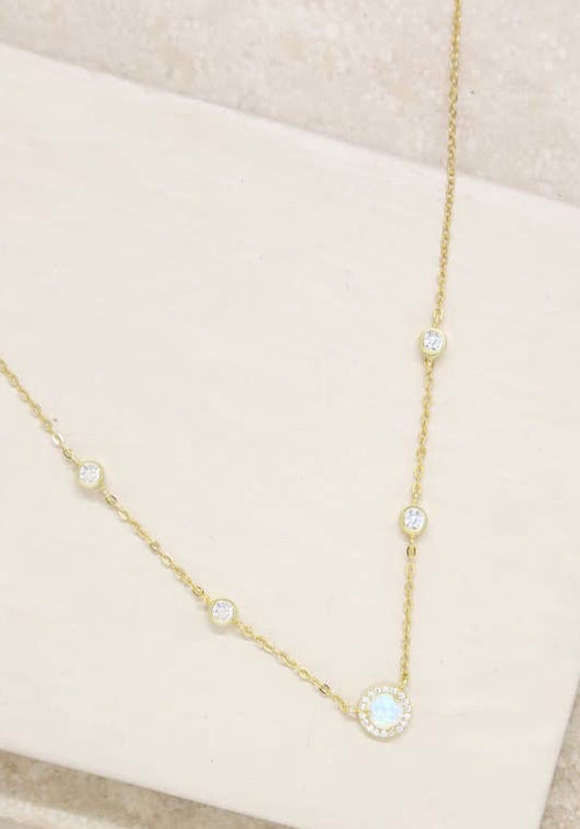 Opal & Crystal Necklace