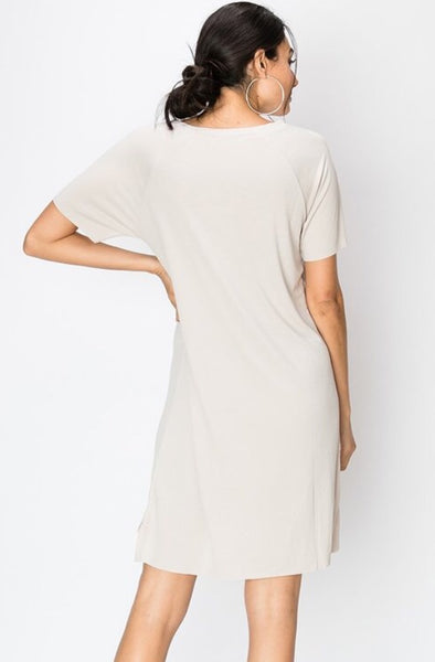 Sand Washed T-Shirt Dress