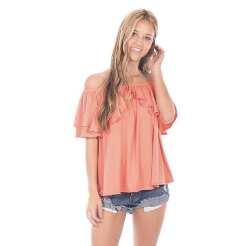 Orange Crush Off the Shoulder Top