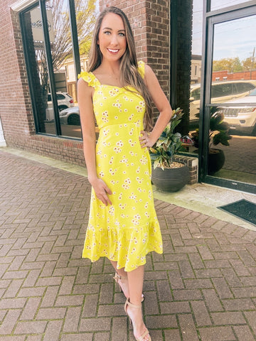 Yellow Daisy Midi