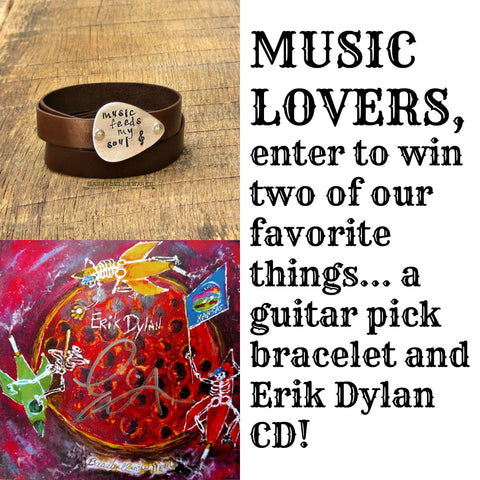 Music Lovers, Here's a Chance to Win a Guitar Pick Bracelet and a CD!