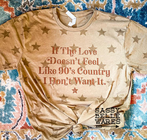 90s Country Love Stars Tee