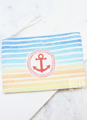 Anchor Wristlet - Blue