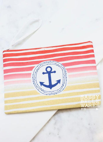 Anchor Wristlet - Red