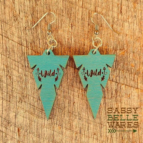 Wild Arrowhead Earrings
