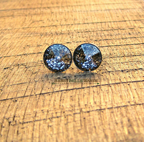 Swarovski Crystal Earrings Black and Clear
