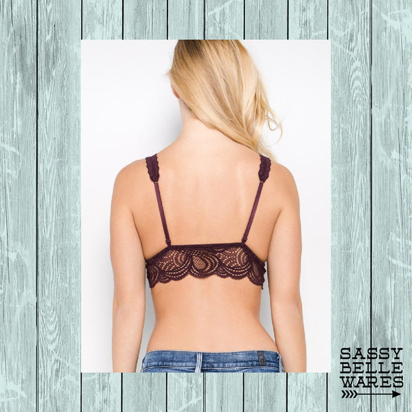 Bralette - Lace Black - Small Medium Large
