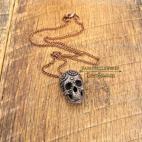 Mens Skull Necklace