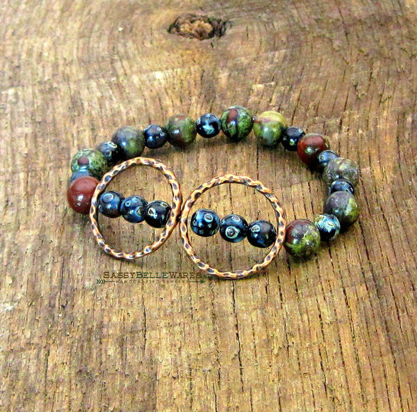 As Seen on The Vampire Diaries Hammered Double Circle Bracelet