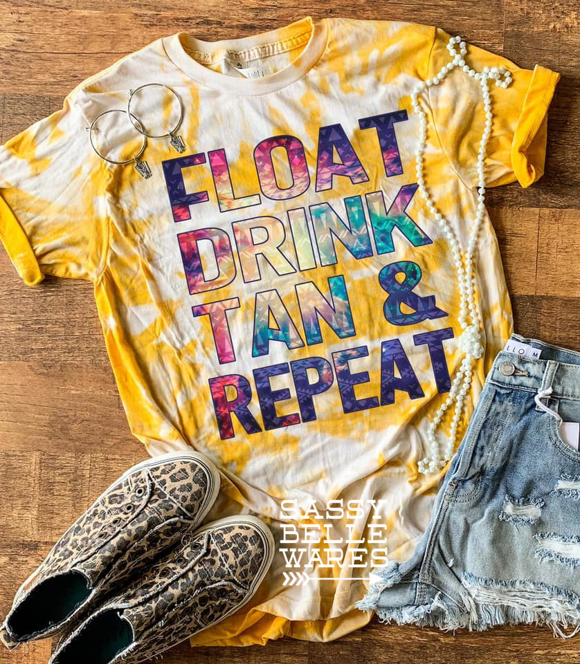 Float Drink Tan Repeat Tee