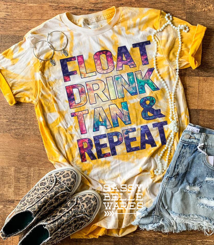 Float Drink Tan Repeat Tee - PRE ORDER