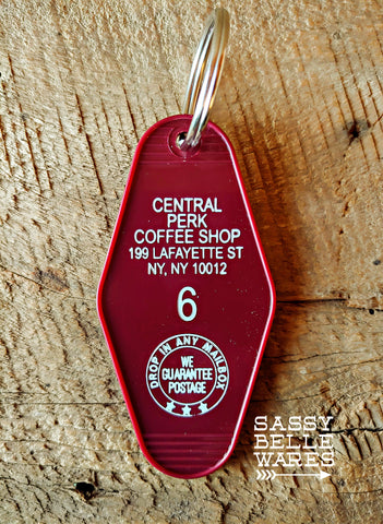 Central Perk Key Ring