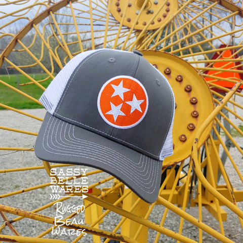 Tennessee Tri Stars Hat - Grey and White