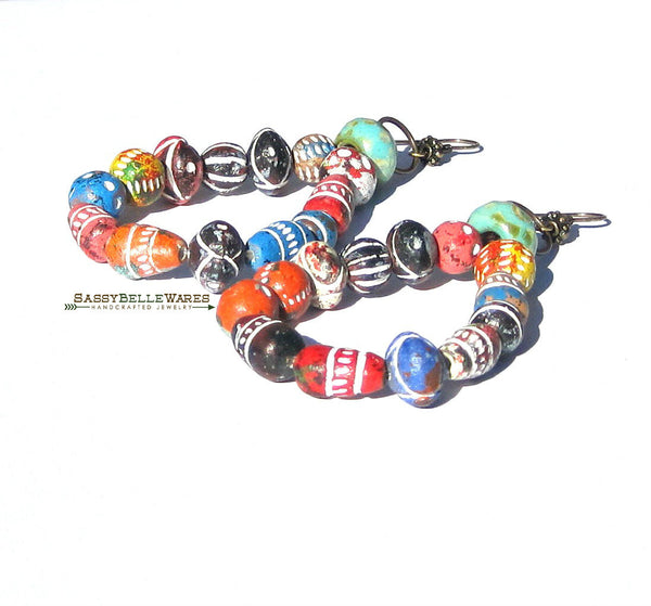 As Seen on Jane the Virgin Colorful Funky Statement Earrings