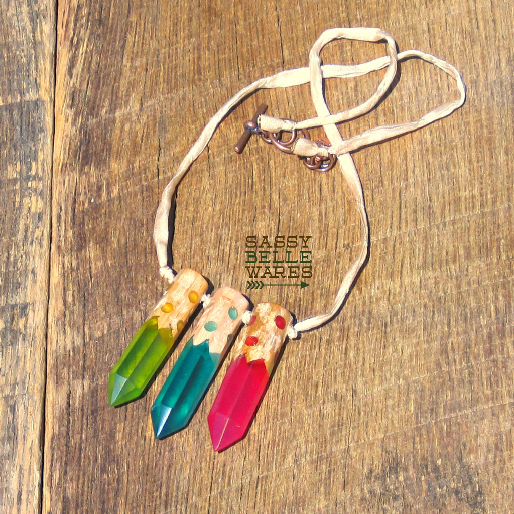 As Seen on Teachers Colored Pencils Necklace