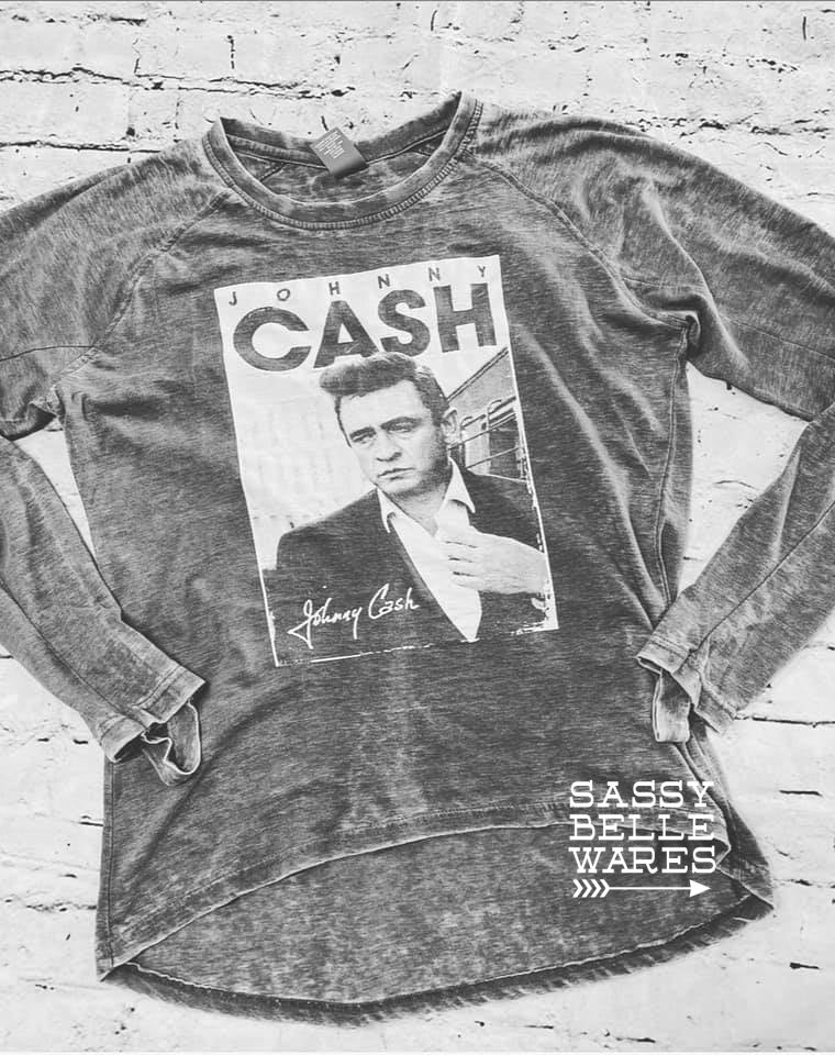 Johnny Cash Long Sleeve Tee