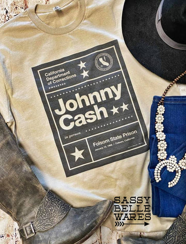 Johnny Cash Folsom Prison Tee